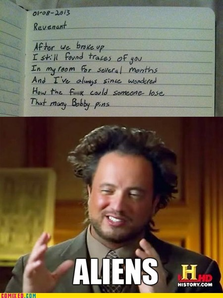 Aliens,break up,hair accessories,bobby pins