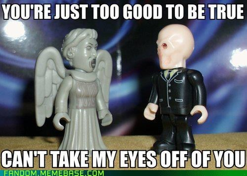 scifi,weeping angels,doctor who,the silence,figurines