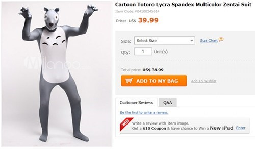 costume,scary,zentai,totoro,spandex,suit,my neighbor totoro,weird