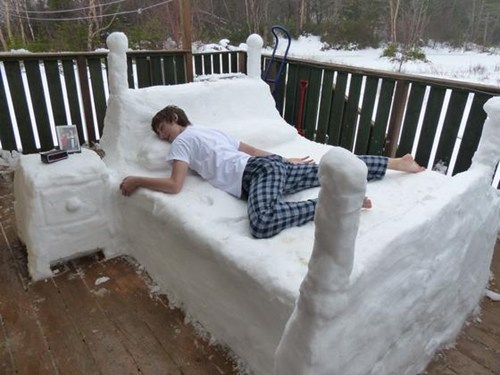 bed,snow,cold,winter