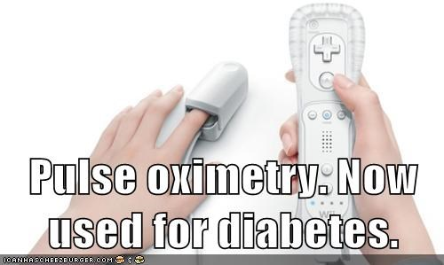 Pulse oximetry. Now used for diabetes.