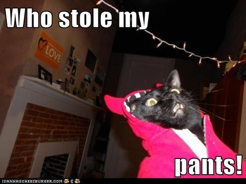 Who stole my  pants!