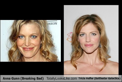 Anna Gunn (Breaking Bad) Totally Looks Like Tricia Helfer (Battlestar ...
