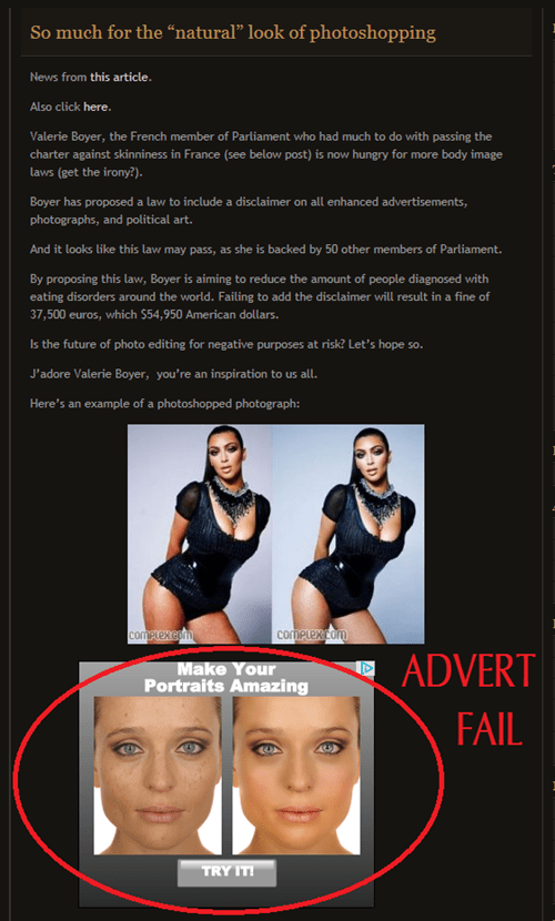 Webpage Advertising FAIL