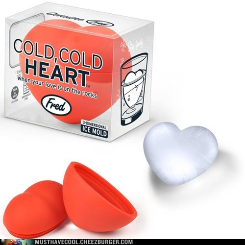 Cold, Cold Heart 3D Ice Mold