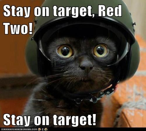 Stay on target, Red Two!  Stay on target!