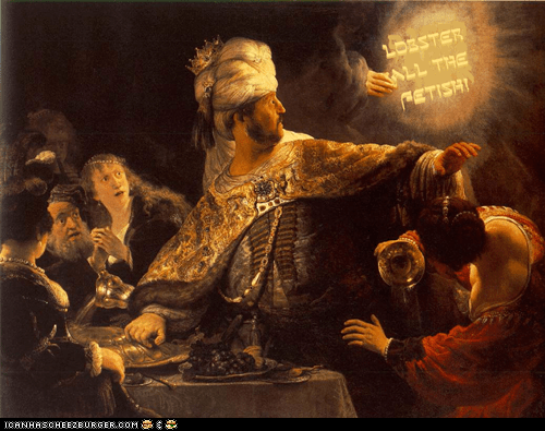 Belshazar's feast- by Rembrandt