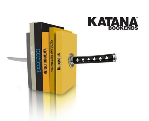 katana,stab,book ends,books,sword,illusion