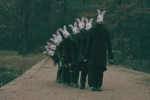 bunnies,creepy,mask