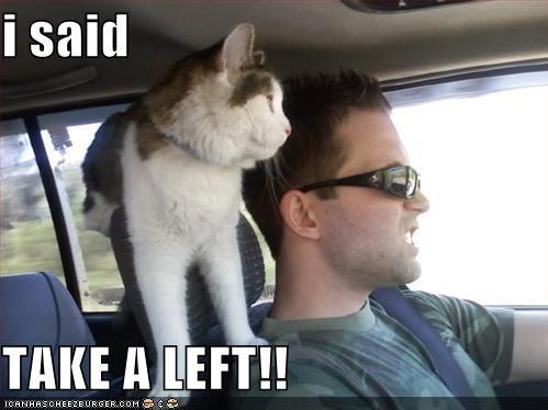 i said  TAKE A LEFT!!