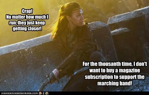 zoe saldana,uhura,marching band,magazine,Star Trek,closer,running away