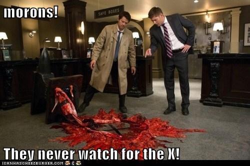 x,jensen ackles,anvil,morons,trap,Supernatural,dean winchester,misha collins,castiel