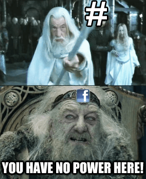gandalf,hashtag,twitter,Lord of the Rings,facebook