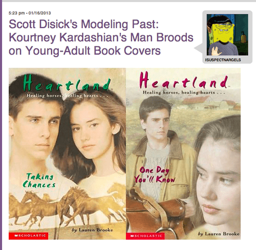 Scott Disick: Young Adult Horse Girl Miracle Heartthrob