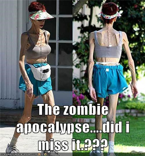 The zombie apocalypse....did i miss it.???