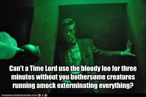 Exterminate,Time lord,daleks,Matt Smith,bathroom,doctor who