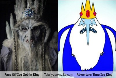 Face Off Ice Goblin King Totally Looks Like Adventure Time Ice King