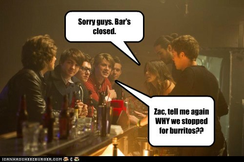 Sorry guys. Bar's closed.