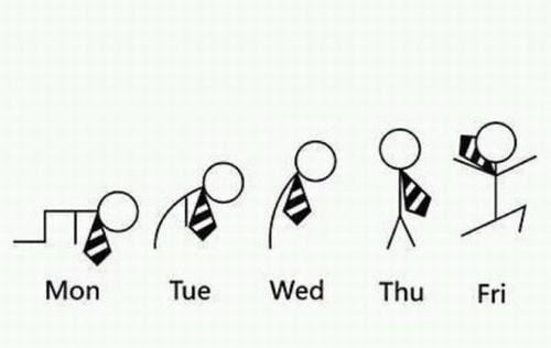 FRIDAY,hooray,weekly progression,monday