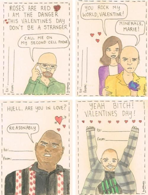 breaking bad,walter white,cards,Valentines day