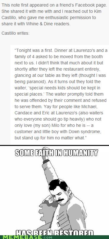 Waiter Does Something Unexpectedly Awesome
