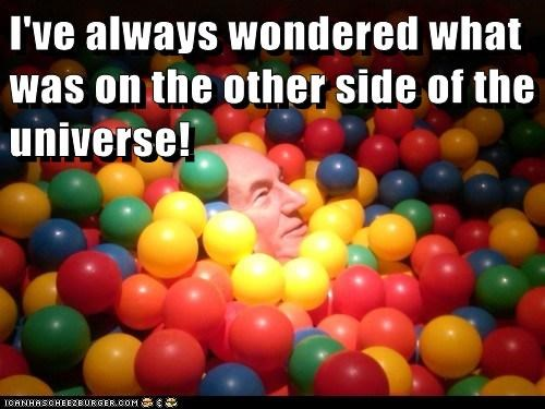 Captain Picard,universe,ball pit,the next generation,Star Trek,patrick stewart