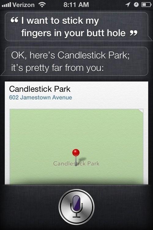 siri,pretending,candlestick park