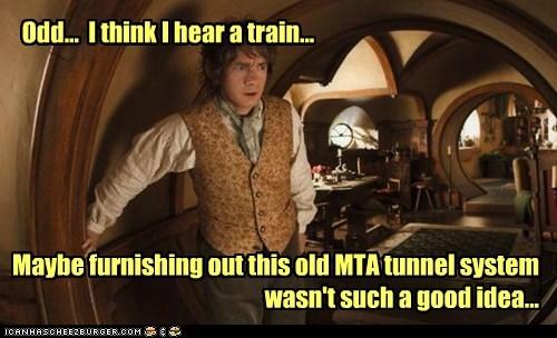 Martin Freeman,Bilbo Baggins,The Hobbit,Subway,furnishing,tunnels,train