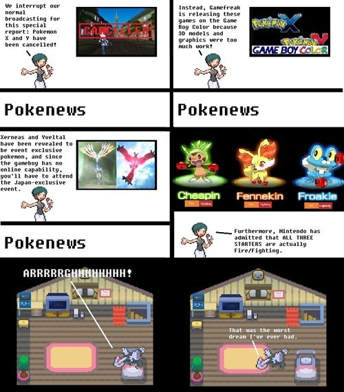 dreams,noooooo,pokenews,firefighting,pokemon x/y