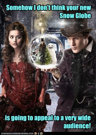 snow globe,clara oswin oswald,the doctor,jenna-louise coleman,Matt Smith,doctor who,audience