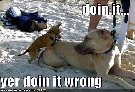 doin it...  yer doin it wrong