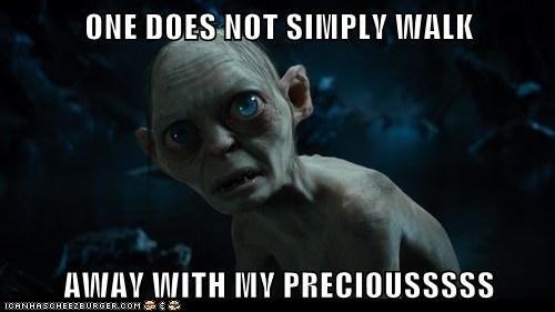 gollum,one does not simply,The Hobbit,my precious