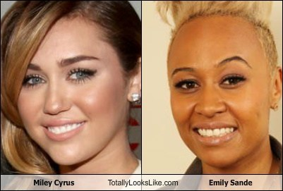 Miley Cyrus Totally Looks Like Emily Sande