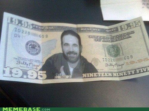 Billy Mays,dollar bill,money