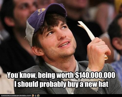 buy,new,ashton kutcher,torn,hat,rich
