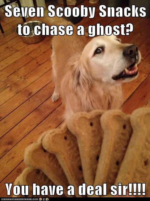 Seven Scooby Snacks to chase a ghost?  You have a deal sir!!!!