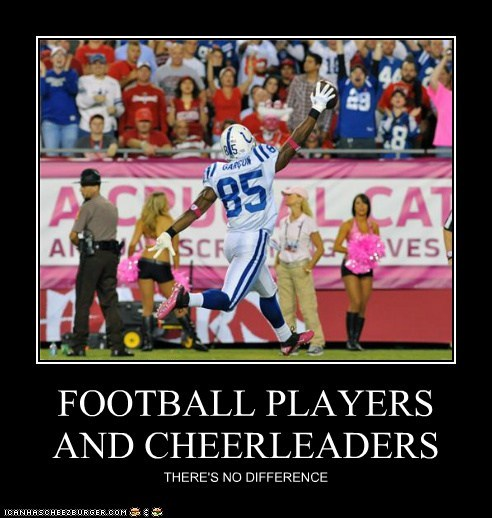 FOOTBALL PLAYERS AND CHEERLEADERS