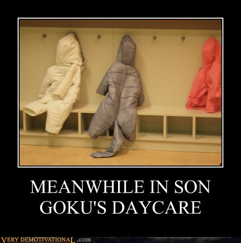 daycare,tail,Dragon Ball Z,coat,goku