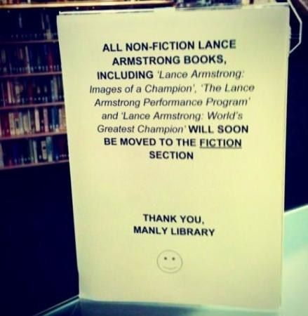 Lance Armstrong,books,library,fiction