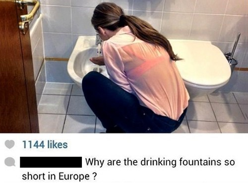 european,drinking fountain,facebook,toilet