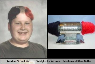 Random School Kid Totally Looks Like Mechanical Shoe Buffer