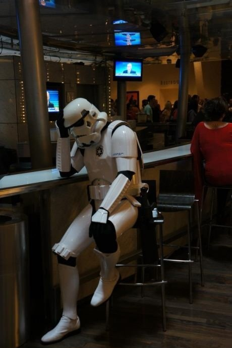 Storm Trooper Needs a Drink
