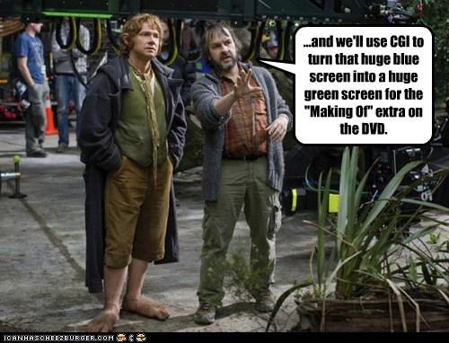 green screen,peter jackson,special effects,Making Of,blue screen,Martin Freeman,Bilbo Baggins,The Hobbit,cgi