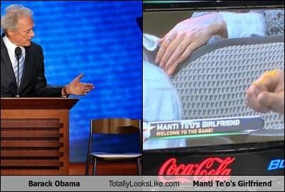 Barack Obama Totally Looks Like Manti Te'o's Girlfriend