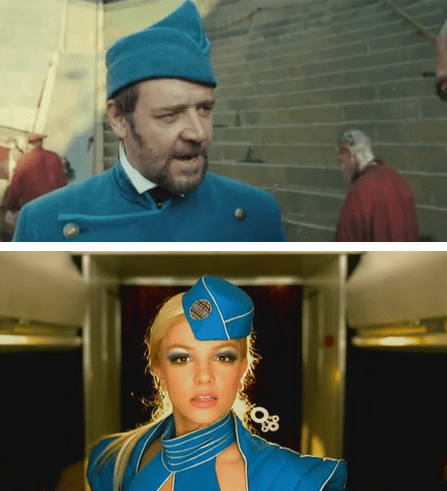 Music,fashion,actor,britney spears,Russell Crowe