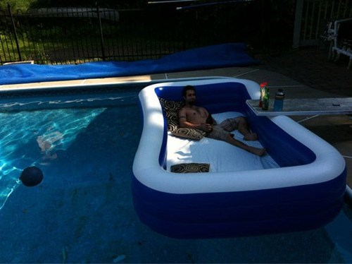 Pool on Pool Relaxation