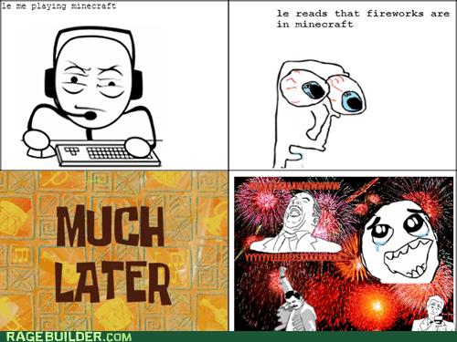 minecraft fireworks!