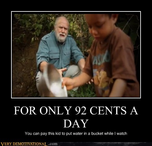 wtf,92 cents,water,bucket