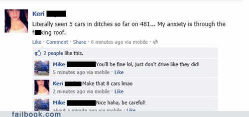 snow,facebook while driving,driving,car accident,road conditions,traffic