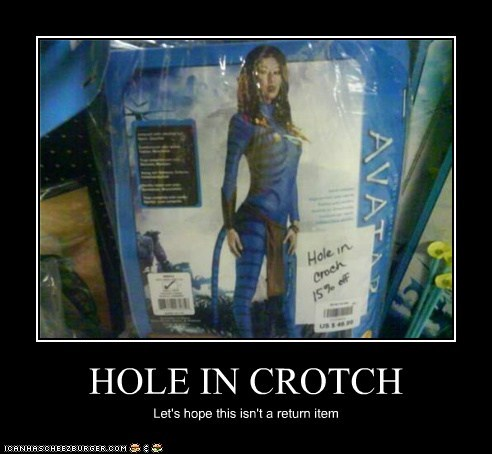 HOLE IN CROTCH